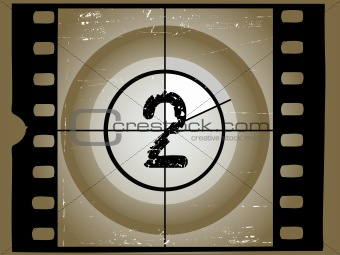 Old Sctratched Film Countdown - At 2