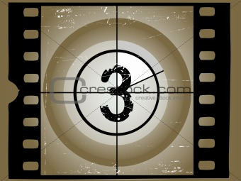 Old Sctratched Film Countdown - At 3