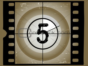 Old Sctratched Film Countdown - At 5