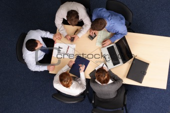 Business Meeting, five persons