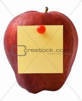 Apple with note