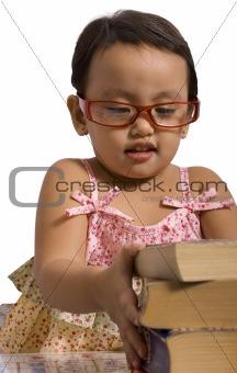 Toddler stacking books