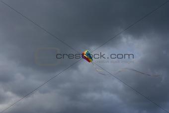 Kite in the Dark Sky