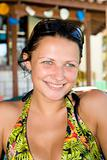 beautiful young girl smiling