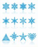 christmas snowflakes /  vector / background