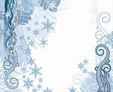 grunge snowflakes vector background