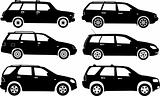 Silhouette cars, vector