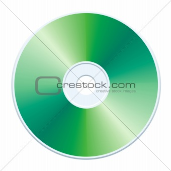 Green CD, vector