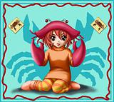 horoscope zodiac sign of cancer manga style