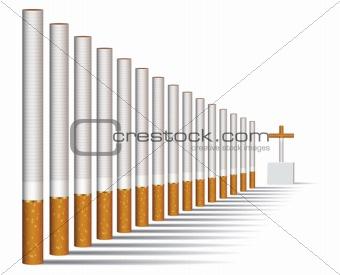 Cigarette alley, vector