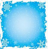 Snowflake grunge frame, vector