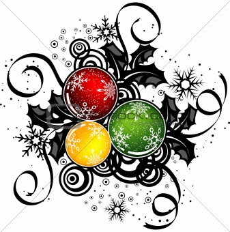 Abstract christmas design, vector