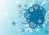 Abstract winter background, vector