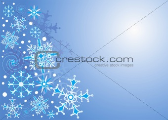 Background Snowflake, vector illustration
