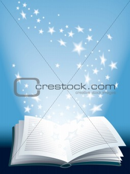 Magic book, vector