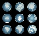 World Continents (Vector)