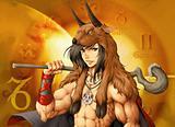 horoscope zodiac sign of capricorn manga style