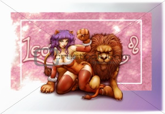 horoscope zodiac sign of leo manga style