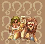 horoscope zodiac sign of leo manga style