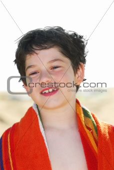 Boy in a towel