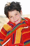 Boy in a towel