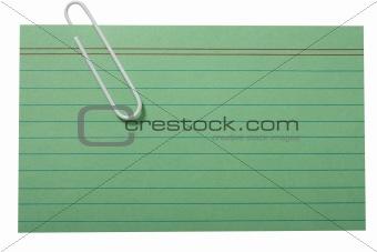Green blank card