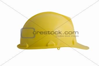 A yellow hard hat