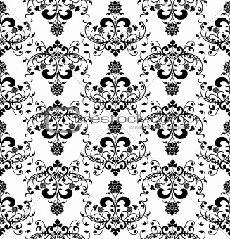 Floral seamless pattern, vector