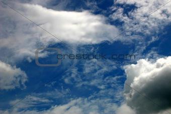 skies, clouds