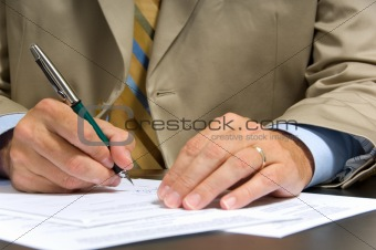 Business Man Signing