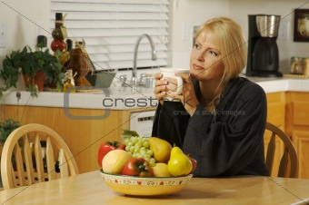 Beautiful Woman Enjoying Coffee