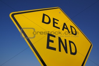 Abstract View of Dead End Sign