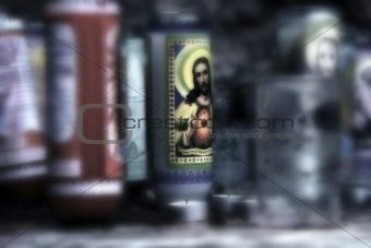 Candel on Altar