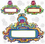 Floral curly frames (floral series)