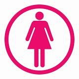Woman sign, pink concept