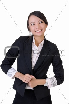 Happy smiling business woman