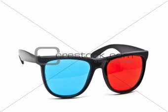 3D Glasses on White Background