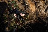 Soldier with Camouflage (hiding)