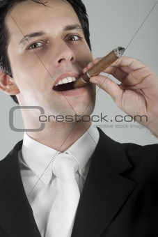 Business Man with Cigar