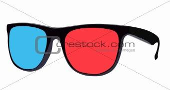Three dimensional eyeglasses, vector