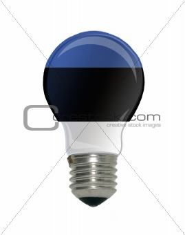Flag of Estonia in light bulb