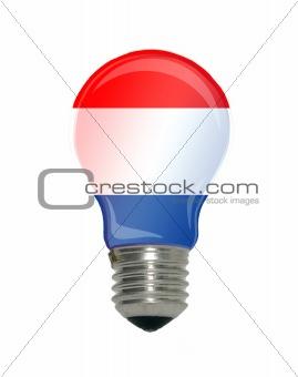 Flag of Netherlands in light bulb