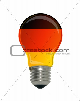 Flag of Germany in light bulb