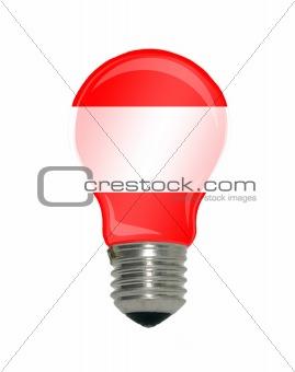 Flag of Austria in light bulb