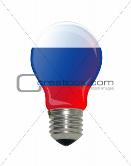 Flag of Russia in light bulb