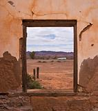 Window view in old house