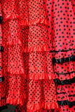 Gipsy red spots dress texture background