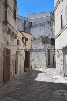 Alley in Altamura Oldtown. Apulia.