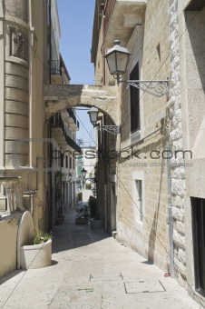 Arch in Bari Oldtown. Apulia.