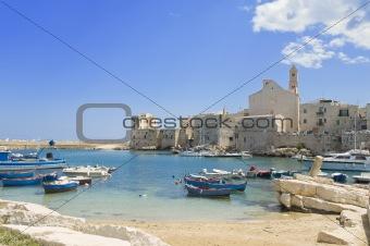 Giovinazzo touristic port. Apulia.
